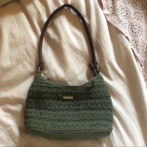 Rosetti sage green woven small handbag